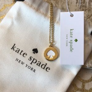 New Kate Spade Spot the Spade Gold Necklace